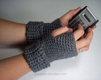 Fingerless Mitt Gloves / Crochet PATTERN / Wrist Warmers S to XL / PDF 1010