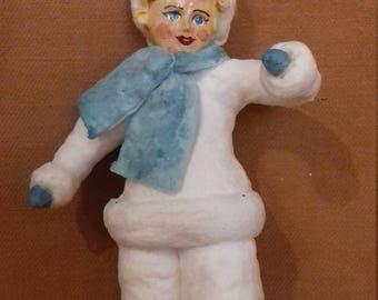 "Christmas Spun cotton ornament ""Clown"""