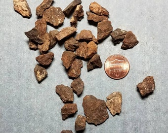 1 to 2 Gram Stony Unclassified NWA Whole Meteorite Chunks • Raw • Rough • Space Rocks • Shooting Stars • Affordable Teachers Learning Aid