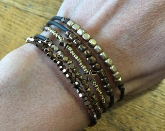 5 stacking memory wire bracelets