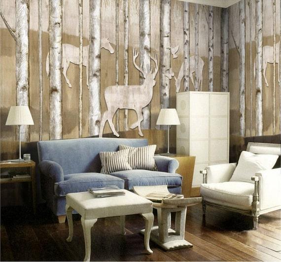 Deer Wall Mural Decals Deer Head Wall Mural Decal Animal Wall Decal