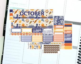 Autumn/Orange/Halloween September Monthly Kit Planner Sticker Kit for Erin Condren Life Planners