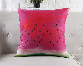 Decorative pillow, cushion cover  summer watermelon home throw pillow shell customized size
