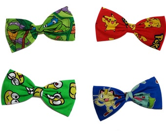 TMNT Hair Bow- Teenage Mutant Ninja Turtles- Pikachu- Pokemon Hair Bow- Keroppi Hair Bow- for Girls, for Teens--Gifts for Her