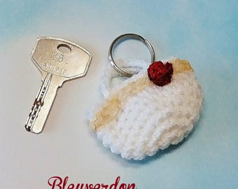 key rack and pink hand crocheted