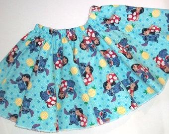Lilo and Stitch Twirl Skirt Size 3T Circle Skirt Toddler Clothing Little Girls Skirt Disney Birthday