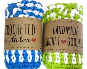 Crochet Dishtowel, Washcloth handmade