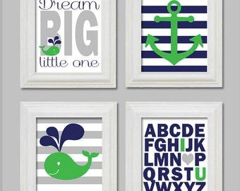 Art Prints, Baby Boy Nursery Decor, Whale Nursery, Nautical Theme, Baby Boy Room, Nautical Nursery, Nautical Nursery art, boy nursery