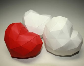 Heart Papercraft 3d DIY