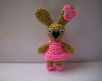 Crochet rabbit amigurumi/вязаная зайка амигуруми