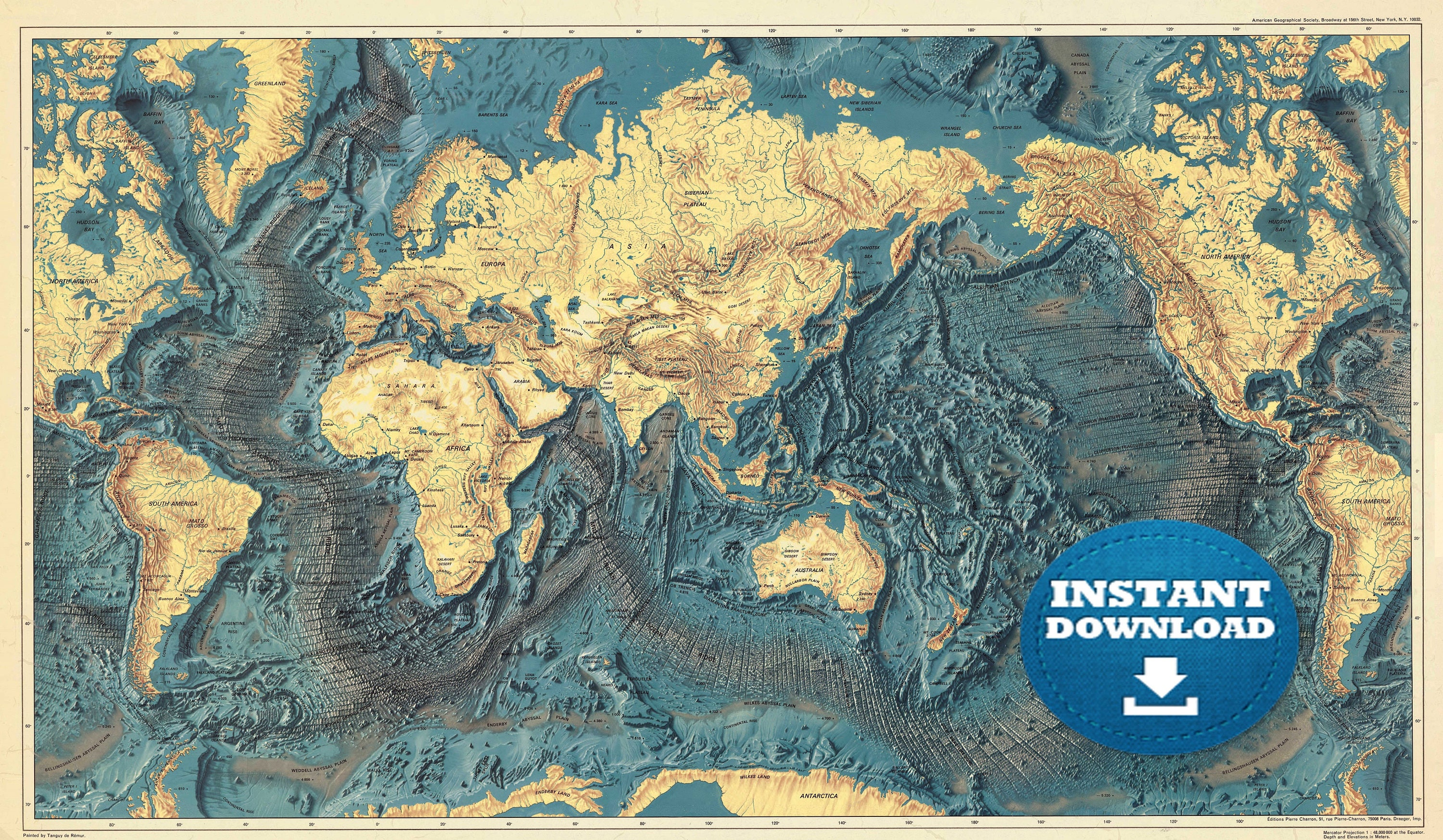 Digital ocean world map hight printable download printable zoom gumiabroncs Images
