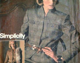 Misses Suit Sewing Pattern - Jacket Sewing Pattern - Skirt Sewing Pattern - Simplicity 6580 - Connoisseur - New - Uncut - Size 14