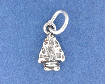 ARROWHEAD Charm .925 Sterling Silver, Native American Indian, MINIATURE Small - elp653