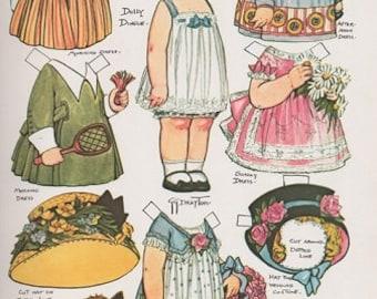 E-Pattern Vintage Dolly Dingle Paper Doll And Cross Stitch Pattern 8