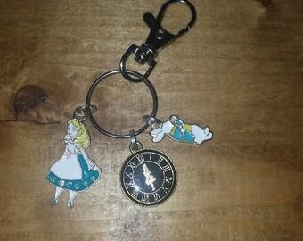 Alice in Wonderland Keyring Bag Charm