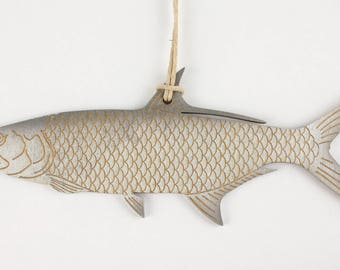 Tarpon Fish Christmas Ornament