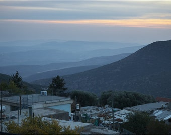 Sunset in Safed (Tzfat) II - Color Photo Print - Fine Art Photography (IS13)