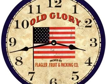 Patriotic Clock- Old Glory Wall Clock