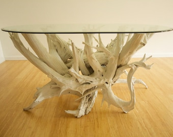 Beau Large Driftwood Dining Table. Handmade From Reclaimed Driftwood