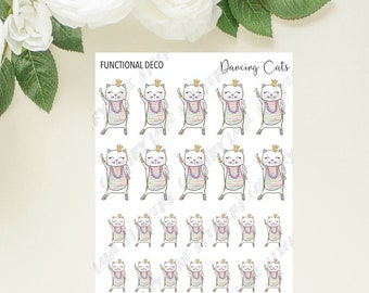 Dancing Cats // Planner Stickers