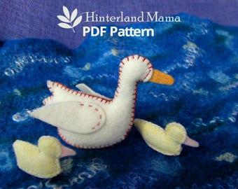 PDF Waldorf Animal Pattern - Felt Duck Pattern - Waldorf Duck Pattern- Felt Duck Patterns - Duck Family sewing pattern- Easter craft pattern