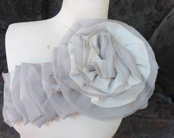 Nice ruffled  applique yoke  grey   color 1 pieces listing