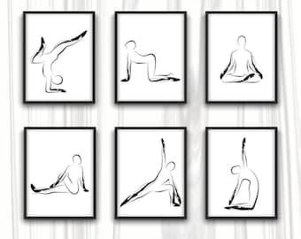 Yoga Poster| Yoga  Art Print | Yoga Studio Decor |  Yoga  Wall Decor | Wall Art | Yoga poses