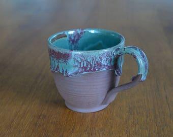 Drip glaze mug