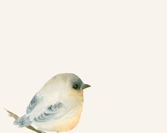Art Card Blank Greeting Card Tiny Lost Bird