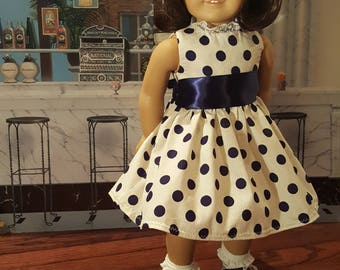 Historical 1950's Doll Dress for 18 inch American Girl Maryellen