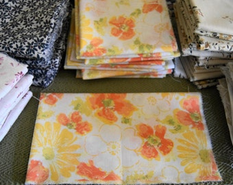 "You Choose Build Your Own  Vintage Sheet  Fat Quarter Bundle all at least  18"" X 22"""