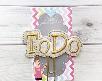 To Do Paper Clip - Planner Paper Clip - Planner Paperclip - Planner Accessories - Planner Feltie - To Do Paperclip - To Do Feltie