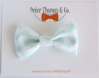 Clip on Bow Tie, Toddler Clip On Bow Tie, Newborn Bow Tie, Child Bow Tie, Ring Bearer Bow Tie, Chevron Bow Tie