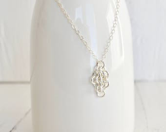 Zierliche Chainmaille Diamond Mesh Halskette - Kette aus Sterlingsilber flache Link - Sterling versilbert Chainmaille Design - BALUS Studio