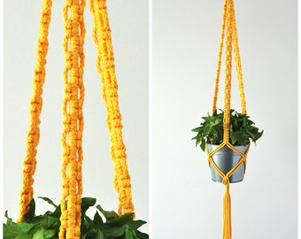 MACRAME PLANT HANGER // Hanging Planter // Made in Canada