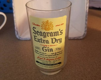Seagrams Extra Dry gin Glass