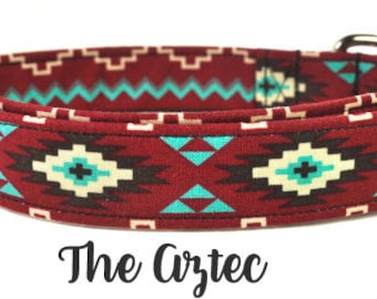 Multicolored Dog Collar - The Aztec