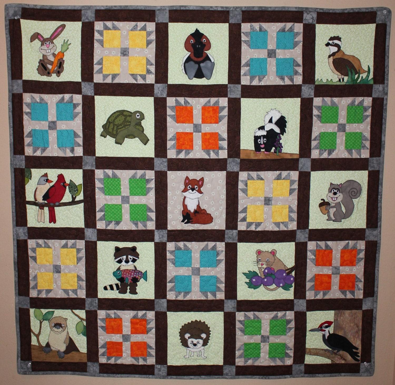 Cardinals PDF applique quilt block pattern; whimsical woodlands ...