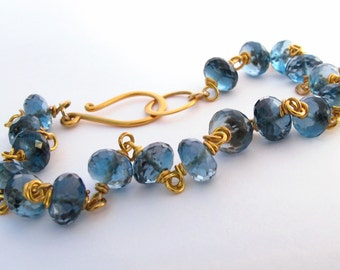 18k London Blue Topaz Bracelet
