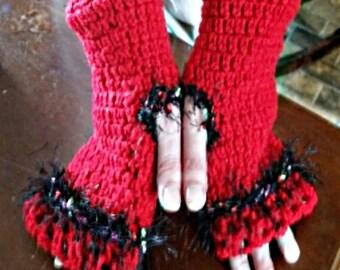 Ladies Crotched Fingerles Gloves