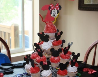 Minnie and Mickey cupcake toppers