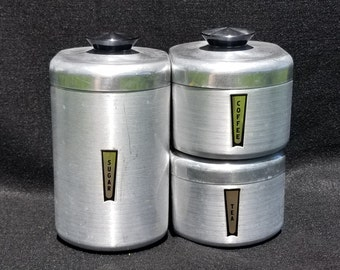 Coffee, Tea,and Sugar Canisters, Beverage Bar Containers