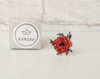 Red Peony Ring