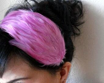 lilac feather headband or hair clip - bohemian feather fascinator - boho hair piece - hair accessories for women - bridesmaid gift - JULIA