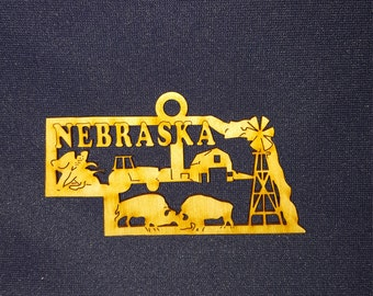 Nebraska state ornament