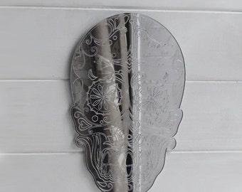 Day of The Dead Candy Skull Handmade Acrylic Mirror