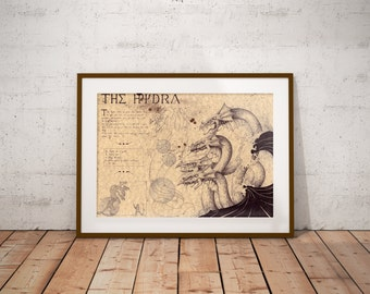 Medium - Hydra - Greek Mythology Art Print