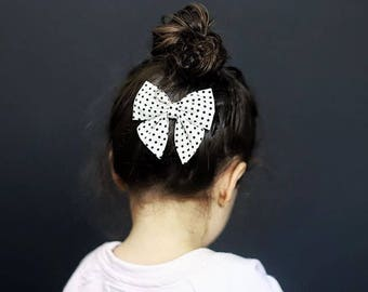 Polka Dot Hair Bow for Girls, Sailor Bow Headband, Toddler Girl Hair Accessories, Easter Hair Bows for Toddlers, Newborn Photo Prop