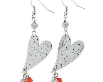 Valentine Dangle Heart Earrings