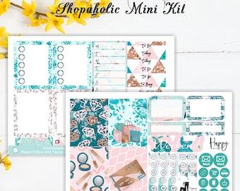Shopaholic Mini Kit | Planner Stickers | ECLP